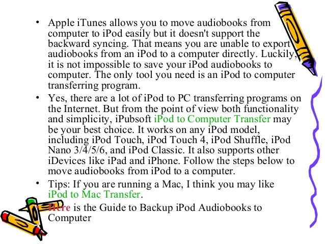 how to add audiobooks to ipod