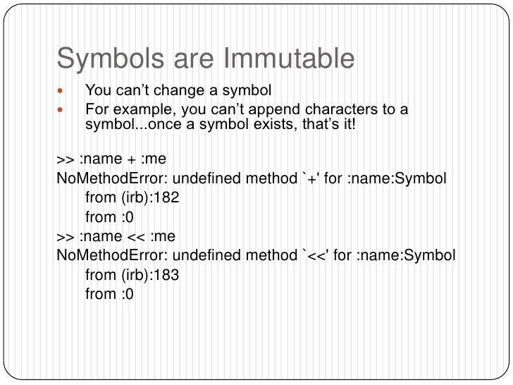 Ruby Strings Symbols