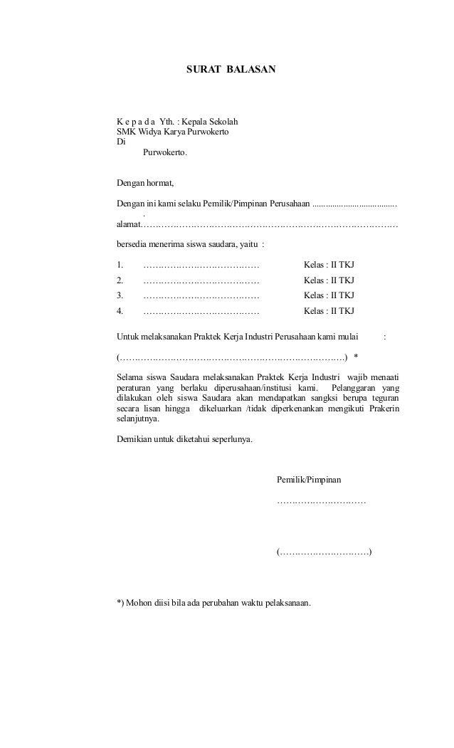 3 Surat Balasan
