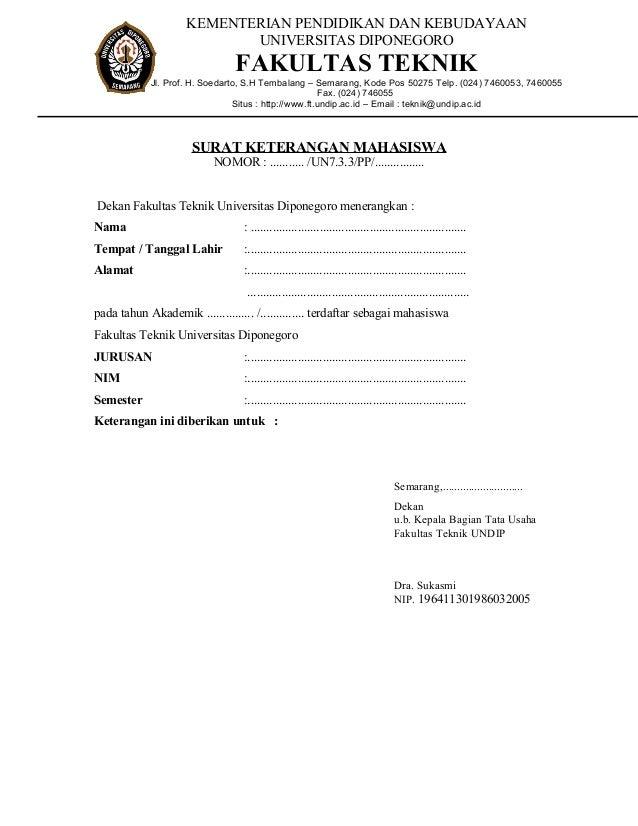 contoh surat keterangan masih kuliah service laptop