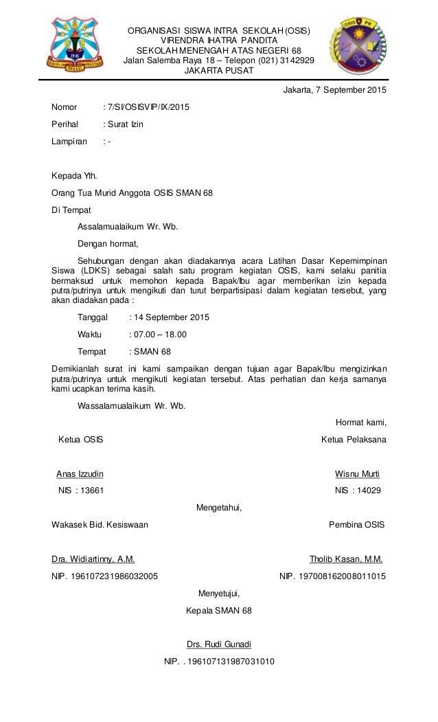 Surat Dan Notulen Rapat Osis Pk Vip
