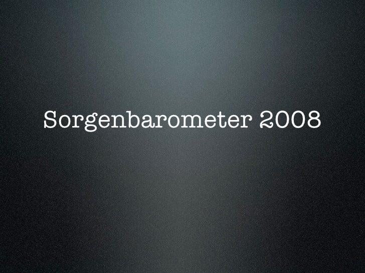 Sorgenbarometer 2008