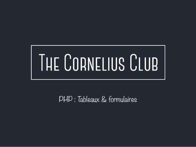PHP : Tableaux & formulaires