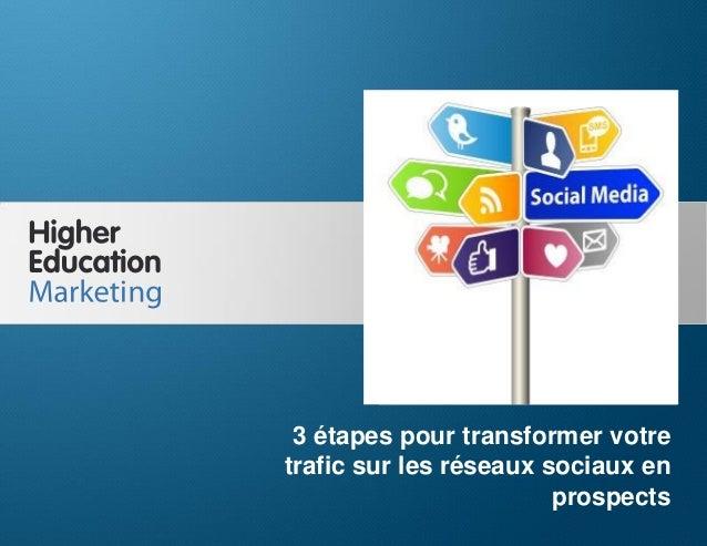3 étapes pour transformer votre trafic sur les réseaux sociaux en prospects  3 étapes pour transformer votre trafic sur le...