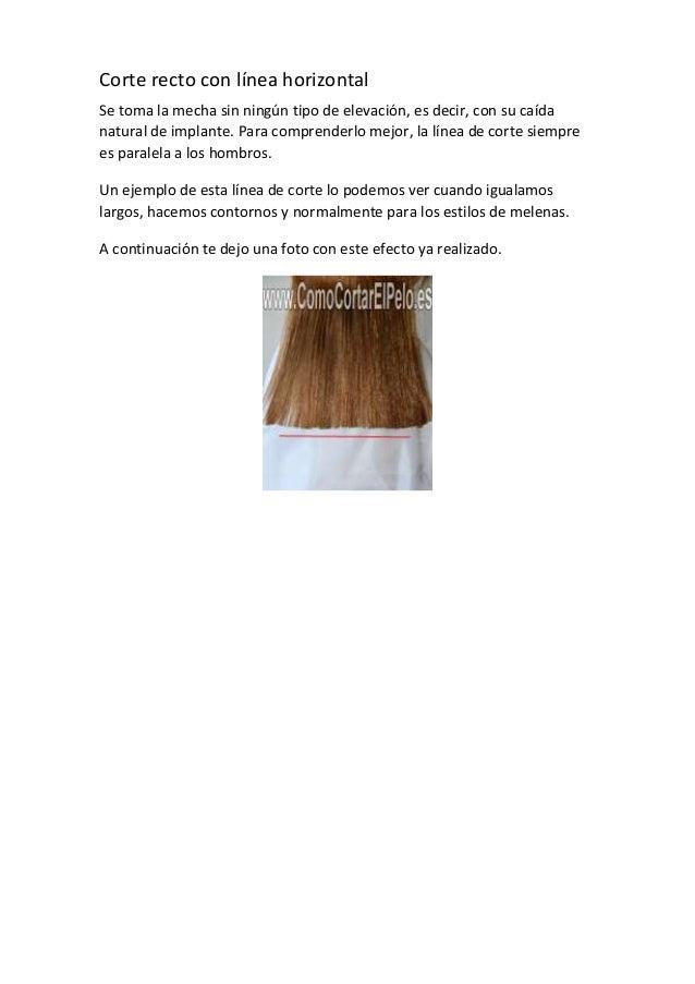 Lineas de corte de cabello vertical