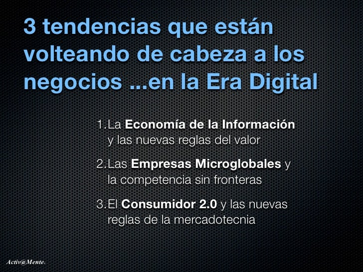 3 tendencias de la era digital... v0.1