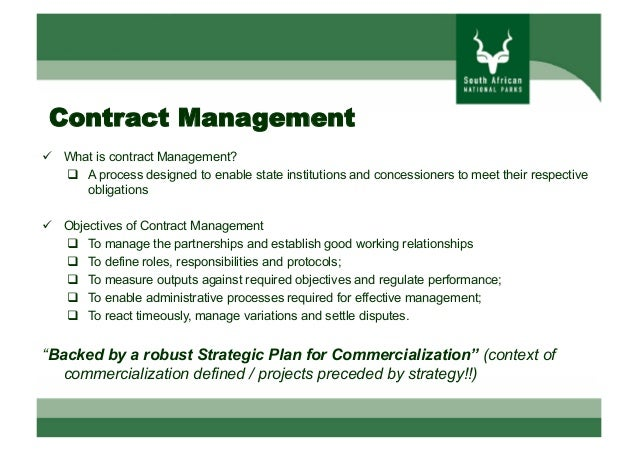 Contract management in tourism concessions Giju Varghese