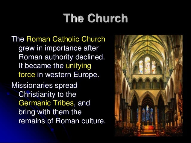 an overview of the catholic church during the middle ages Constantine's proclamation making christianity the state religion in the fourth  century  when in the middle ages it became the practice to confirm close to.