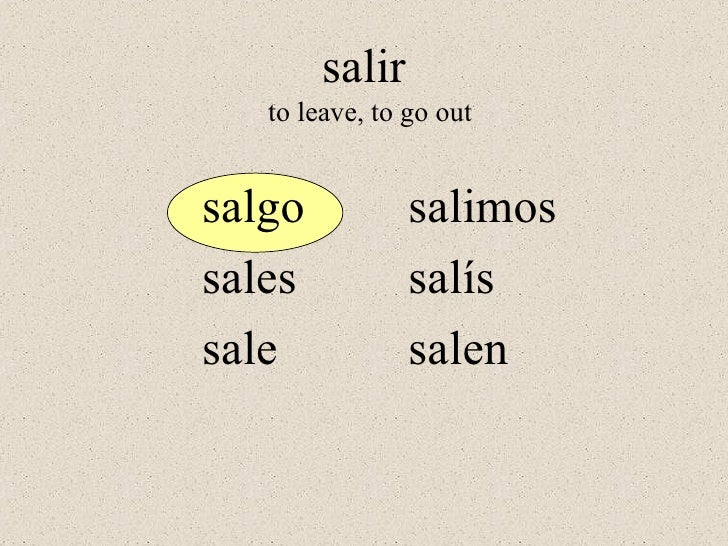 3 the present tense of poner salir and traer
