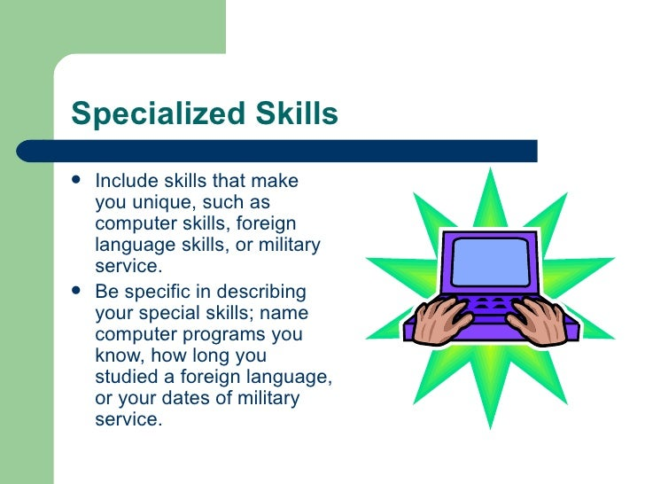 specialized skills for resume