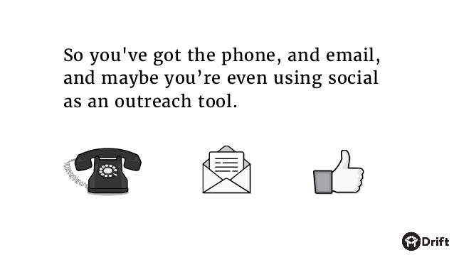 So you've got the phone, and email, and maybe you're even using social as an outreach tool.