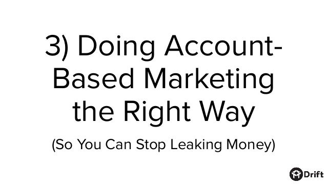 Account-based marketing (ABM) is amazing. But there's now a growing disconnect between… A) the investment companies are ma...