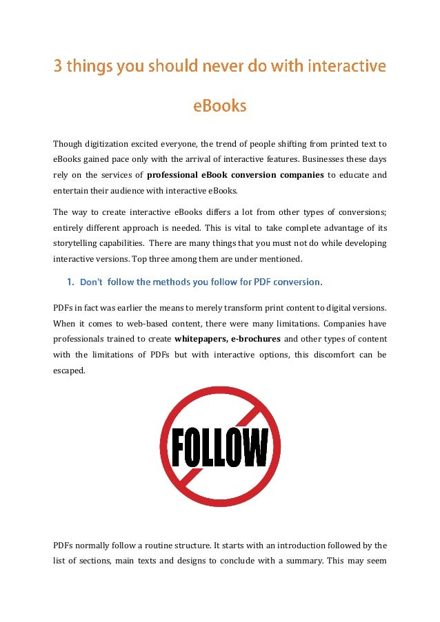 Though digitization excited everyone, the trend of people shifting from printed text to eBooks gained pace only with the a...