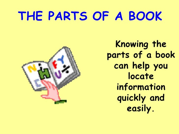 different parts of book report