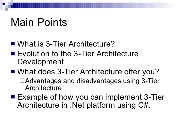 3 Tier Architecture Slide 2