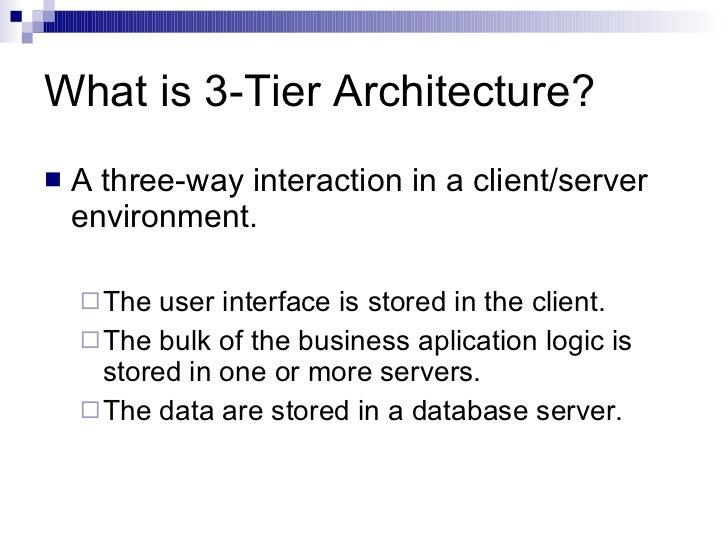 3 Tier Architecture Slide 3