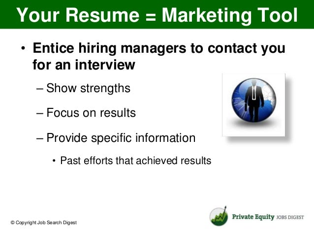 3 tips for private equity resume success