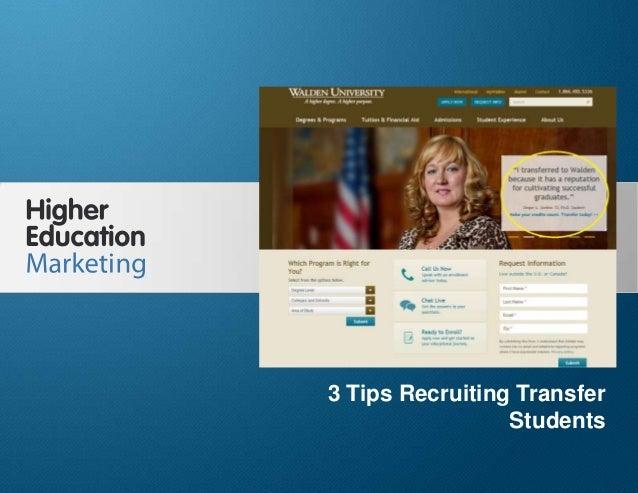 3 Tips Recruiting Transfer Students Slide 1 3 Tips Recruiting Transfer Students