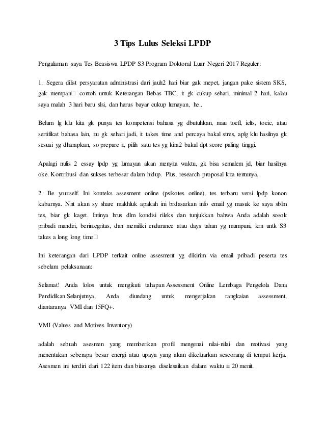 pengalaman on the spot essay writing lpdp