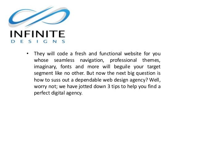3 Tips To Choose The Best Web Design Company Infinite Designs Inc