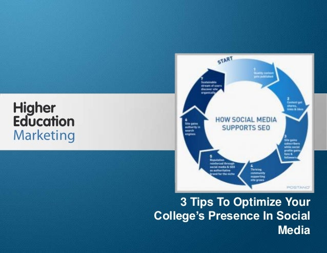 3 Tips To Optimize Your College's Presence In Social Media Slide 1 3 Tips To Optimize Your College's Presence In Social Me...