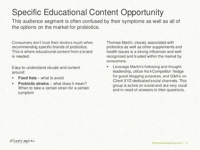 Strategic Insights Study Audience Insights Sample