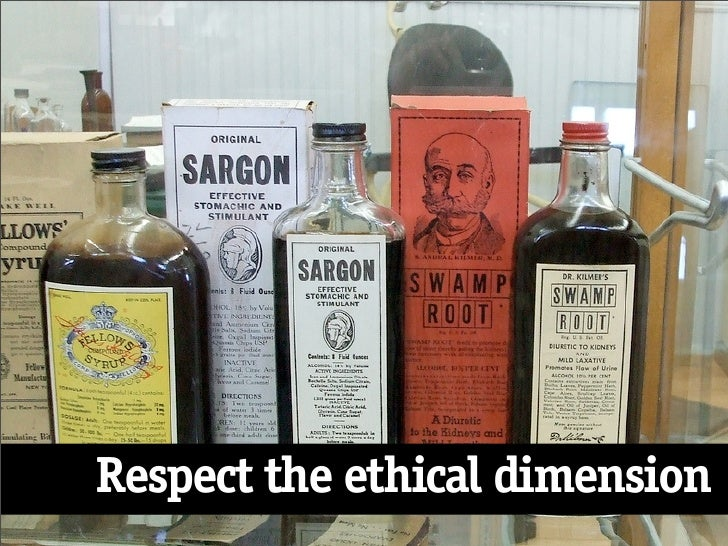 Respect the ethical dimension