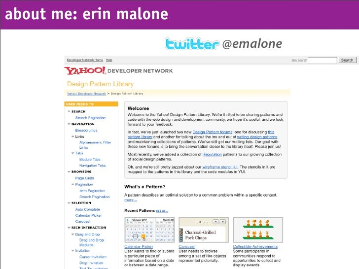 about me: erin malone                         @emalone