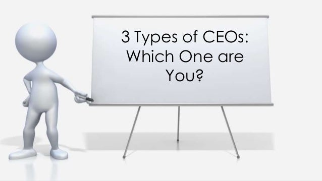 3 Types of CEOs: Which One are You?