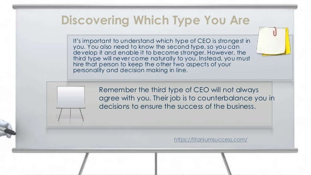 It's important to understand which type of CEO is strongest in you. You also need to know the second type, so you can deve...