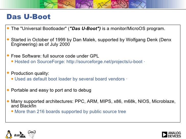 U Boot or Universal Bootloader