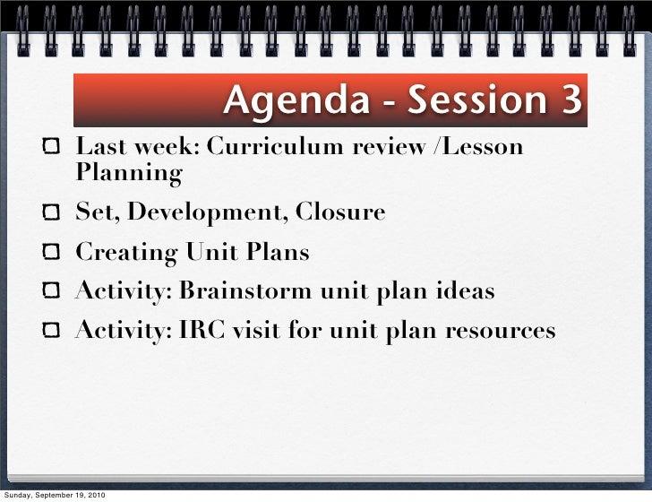#3 unit planning 2010