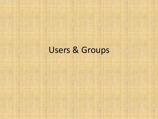 Users & Groups