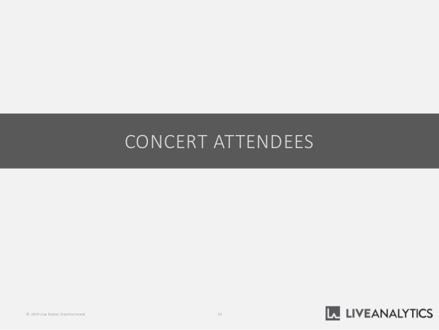 CONCERT ATTENDEES 19© 2014 Live Nation Entertainment