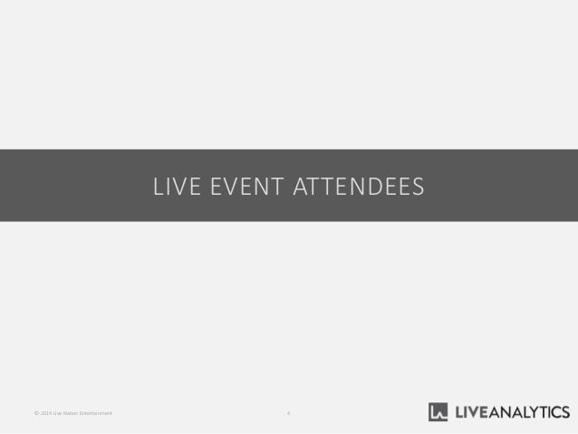 LIVE EVENT ATTENDEES 4© 2014 Live Nation Entertainment