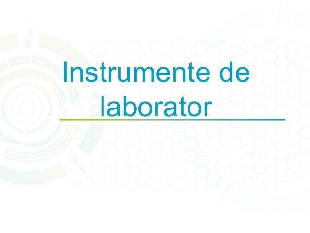 Instrumente de  laborator
