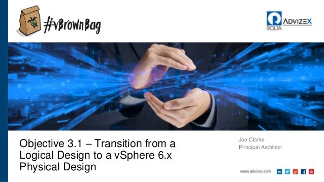 Joe Clarke Principal ArchitectObjective 3.1 – Transition from a Logical Design to a vSphere 6.x Physical Design