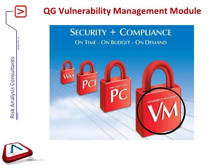 QG Vulnerability Management Module<br />