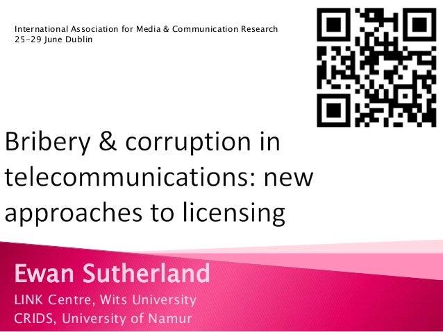 Ewan SutherlandLINK Centre, Wits UniversityCRIDS, University of NamurInternational Association for Media & Communication R...