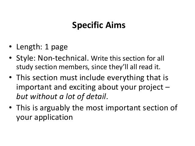 Draft Specific Aims