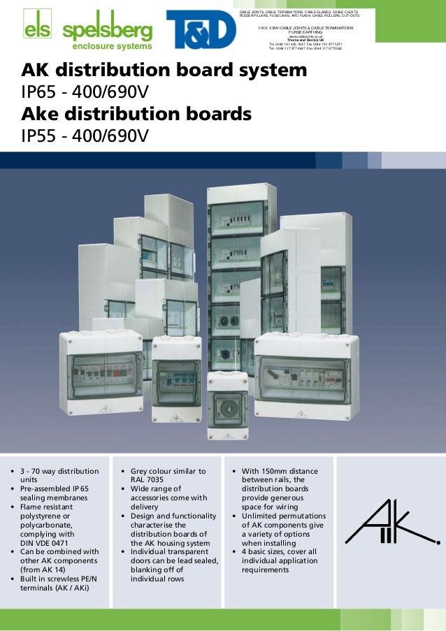 3 Way Low Voltage Distribution Boards - AKi03