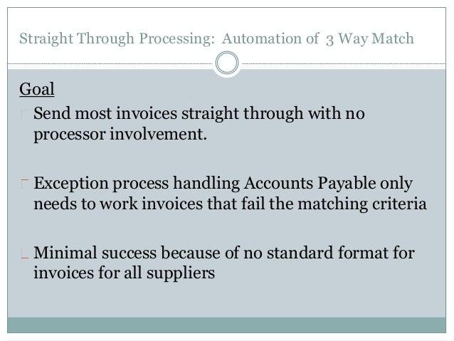 3 way matching process