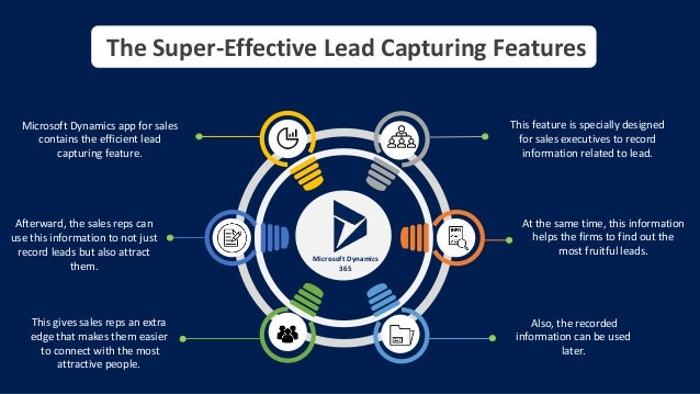 The Super-Effective Lead Capturing Features Microsoft Dynamics app for sales contains the efficient lead capturing feature...