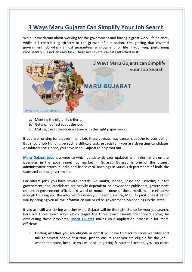 3 ways maru gujarat can simplify your job search