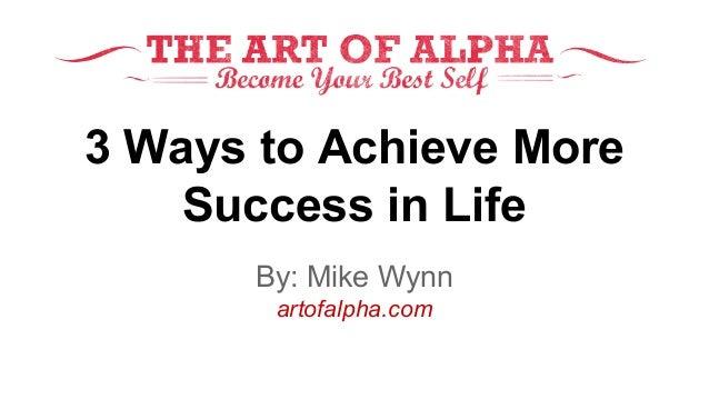 ways to success
