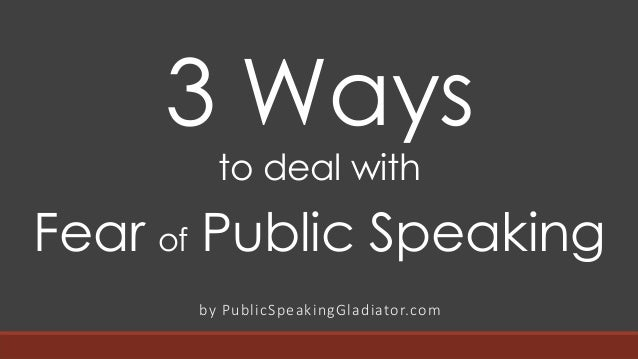 how to avoid fear of public speaking