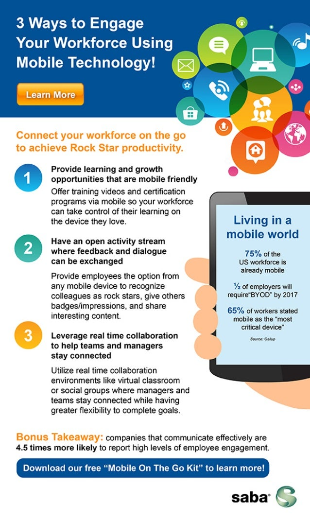 3 ways to be engaging to your workforce using mobile technology!