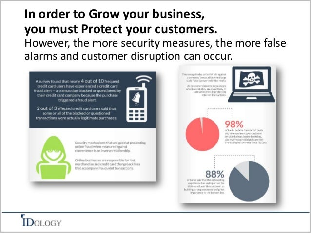 In order to Grow your business,  you must Protect your customers.  However, the more security measures, the more false  al...