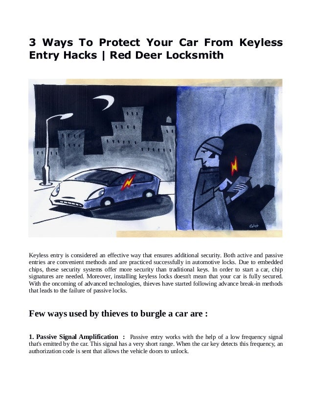 3 Ways To Protect Your Car From Keyless Entry Hacks | Red Deer Locksm…
