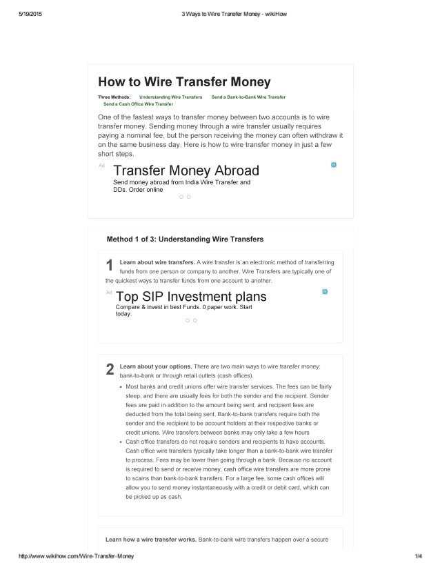 5/19/2015 3 Ways to Wire Transfer Money u2014 wikiHow How to Wire ...  sc 1 st  SlideShare : what is money wiring - yogabreezes.com